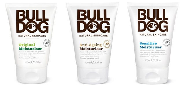 The Bulldog Natural Skincare moisturizer lineup: Original, Sensitive and Anti-Ageing Moisturizers