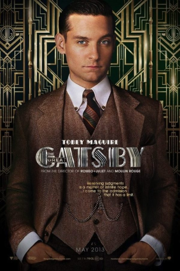 Promo poster with Tobey Maguire as Nick Carraway. Copyright © 2013 Warner Bros.