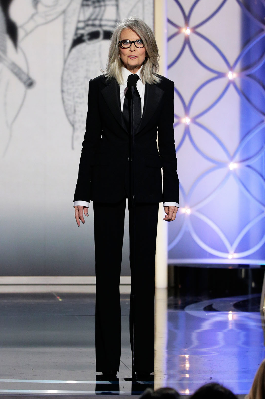 Diane Keaton in Ralph Lauren - Photo by Paul Drinkwater/NBC