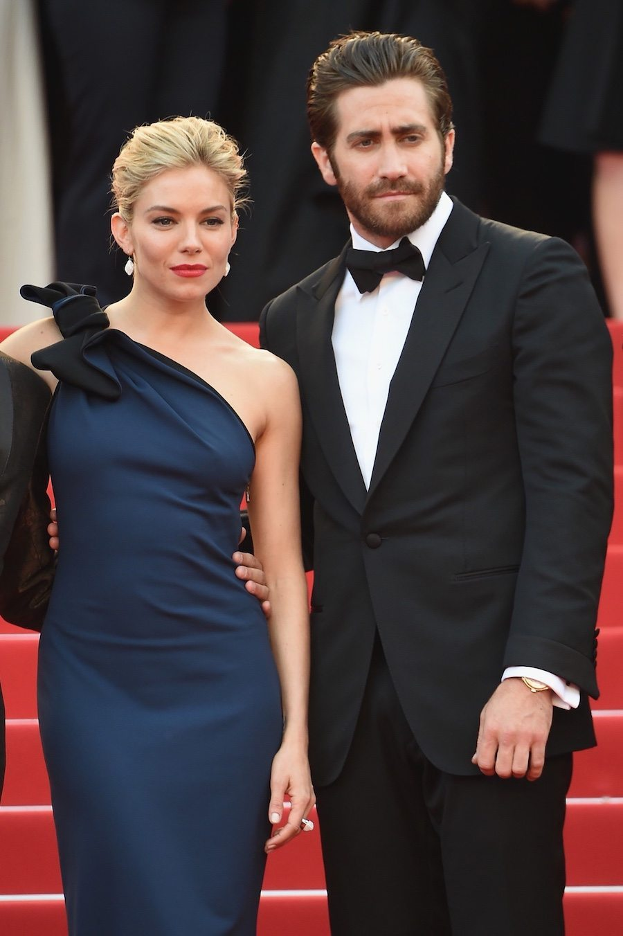 With Sienna Miller in Lanvin.