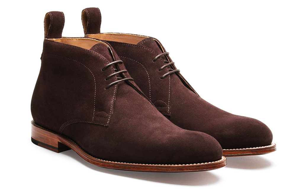 Grenson suede Marcus chukka boots in chocolate.